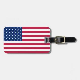 USA Flag Stars Stripes Patriotic Luggage Bag Tag
