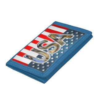 USA Flag Tri-fold Wallet