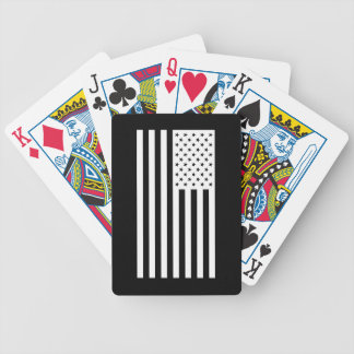 USA Flag - White Stencil Bicycle Playing Cards