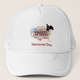 USA Flag with Eagle in Las Vegas Memorial Day Hat