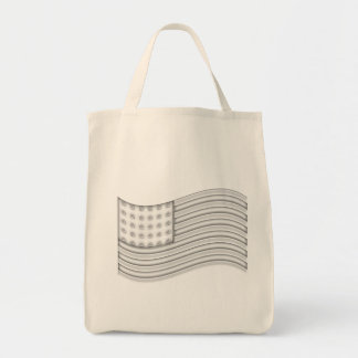 USA flag with Silver metal effect Tote Bag