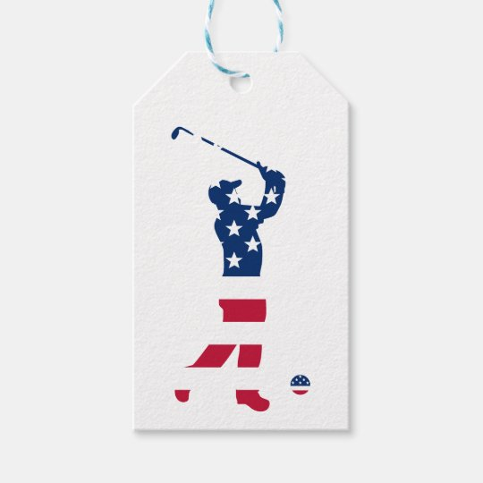USA golf America flag golfer