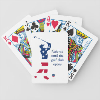 USA golf American flag golfer Bicycle Playing Cards