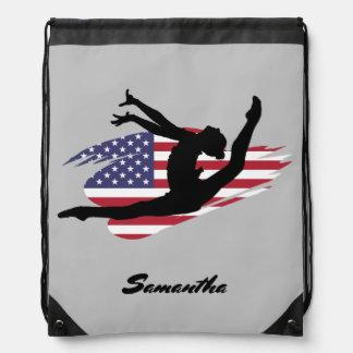 USA Gymnast personalized cinch sack backpack