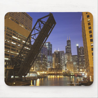 USA, Illinois, Chicago, Chicago River Mouse Pad