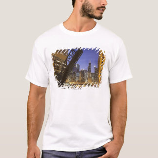 USA, Illinois, Chicago, Chicago River T-Shirt