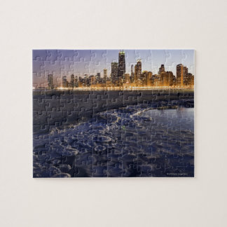 USA, Illinois, Chicago, City skyline from Lake Jigsaw Puzzle