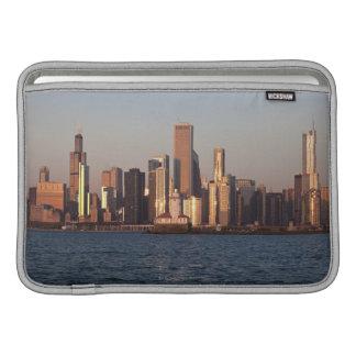 USA, Illinois, Chicago, City skyline over Lake 2 MacBook Sleeve