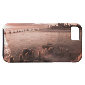 USA, Illinois, Chicago, City skyline over Lake 4 iPhone 5 Cover