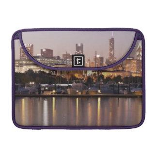 USA, Illinois, Chicago skyline at dusk Sleeve For MacBooks