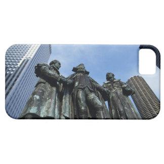 USA, Illinois, Chicago, skyscraper and statue iPhone 5 Case