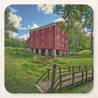 USA, Indiana, Cutler. Adams Mill Square Paper Coaster