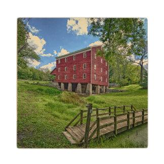 USA, Indiana, Cutler. Adams Mill Wood Coaster
