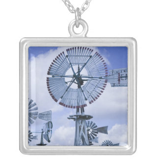 USA, Indiana, Kendallville: Mid, America 2 Silver Plated Necklace