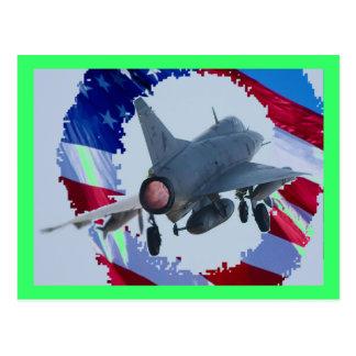 Usa Jet Postcard