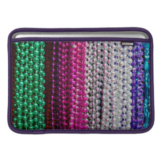 USA, Louisiana, New Orleans. Mardi Gras Beads Sleeve For MacBook Air