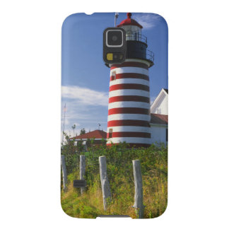 USA, Maine, Lubec. West Quoddy Head Lighthouse Galaxy S5 Cover