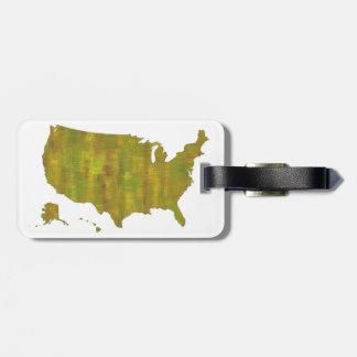 USA MAP - Luggage Tag