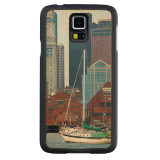 USA, Massachusetts. Boston Waterfront Skyline Carved Maple Galaxy S5 Case
