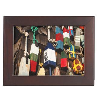 USA, Massachusetts, Gloucester, Lobster Buoys 2 Keepsake Box