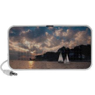 USA Massachusetts Sunset Sailing Mp3 Speaker
