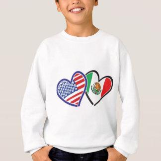 USA Mexico Heart Flags Sweatshirt