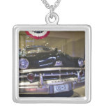 USA, Michigan, Dearborn: The Henry Ford Museum, 2 Square Pendant Necklace
