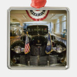 USA, Michigan, Dearborn: The Henry Ford Museum, Silver-Colored Square Decoration