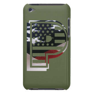USA Military Green American Initial P iPod Case-Mate Case