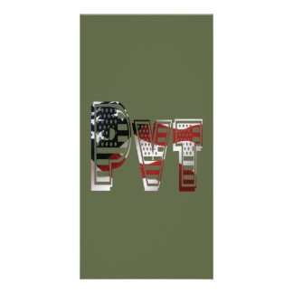 USA Military Green American Pvt Private Customised Photo Card