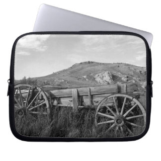 USA, Montana, Bannack State Park Old wagon made Laptop Sleeve