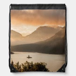 USA, Montana, Glacier National Park. Sunrise Drawstring Bag