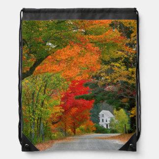 USA, New England, New Hampshire, Andover Drawstring Bag