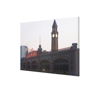 USA, New Jersey, Hoboken, old train station Canvas Print