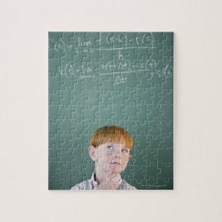 USA, New Jersey, Jersey City, Boy (8-9) Jigsaw Puzzle