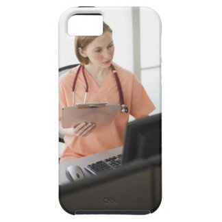 USA, New Jersey, Jersey City, female nurse iPhone 5 Covers