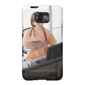 USA, New Jersey, Jersey City, female nurse Galaxy SII Cases
