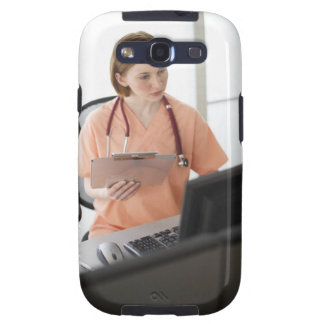 USA, New Jersey, Jersey City, female nurse Galaxy SIII Cover