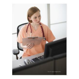 USA New Jersey Jersey City female nurse Postcards