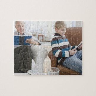 USA, New Jersey, Jersey City, grandfather Jigsaw Puzzle
