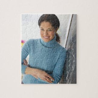 USA, New Jersey, Jersey City, Mature woman Jigsaw Puzzle