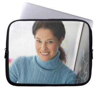 USA, New Jersey, Jersey City, Mature woman Laptop Sleeve
