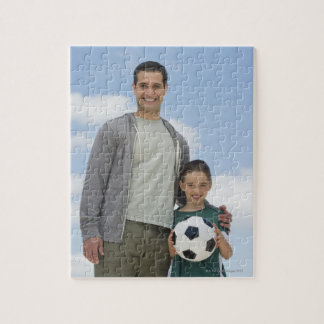 USA, New Jersey, Jersey City, portrait of father Jigsaw Puzzle