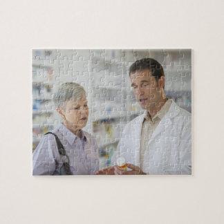 USA, New Jersey, Jersey City, Senior woman Jigsaw Puzzle
