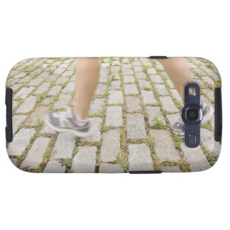 USA, New York City, Blurred legs of woman Galaxy S3 Case