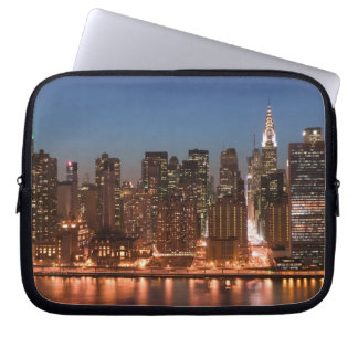 USA, New York, New York City, Manhattan: Aerial Laptop Sleeve