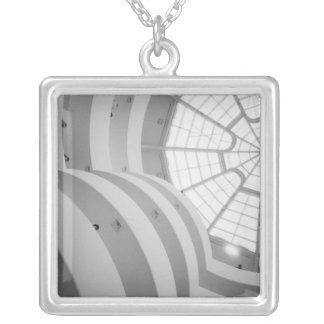 USA, New York, New York City: The Guggenheim 3 Silver Plated Necklace