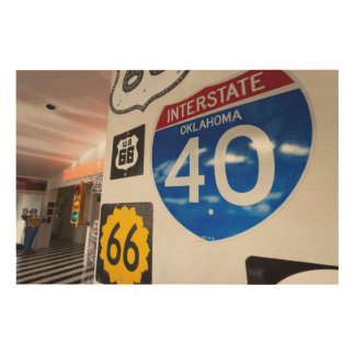 USA, Oklahoma, Clinton, Route 66 Museum Wood Print