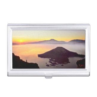 USA, Oregon, Crater Lake National Park 3 Business Card Holder