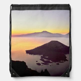 USA, Oregon, Crater Lake National Park 3 Drawstring Backpack